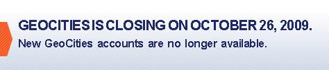 Geocities Closed