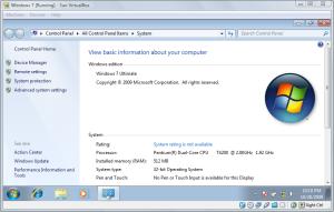 Testing windows 7 on VirtualBOx