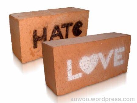 antara cinta dan benci