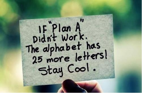 Masih ada plan B-Z