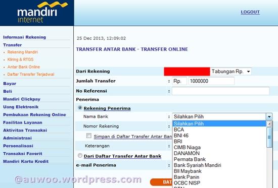 transfer antar bank mandiri
