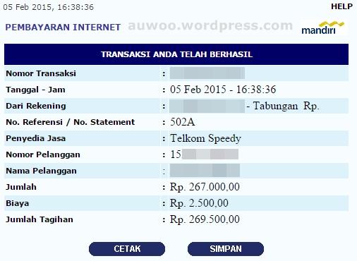 tagihan speedy Februari 2015