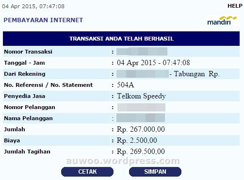 tagihan speedy april 2015