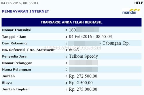 tagihan indihome feb 2016