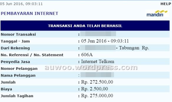 Tagihan indihome juni 2016