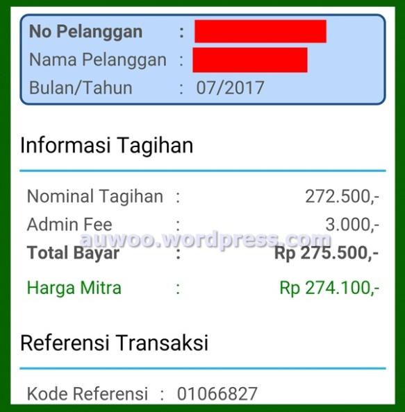 Bukti Pembayaran Tagihan Indihome Juli 2017
