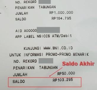 Struk ATM